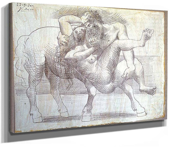 Abduction Nessus And Deianeira 1920 1 By Pablo Picasso