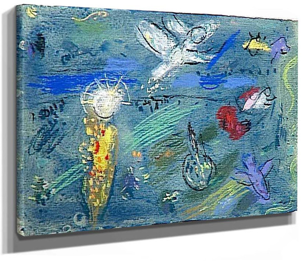 Adam And Eve Expelled From Paradise 1961 By Marc Chagall