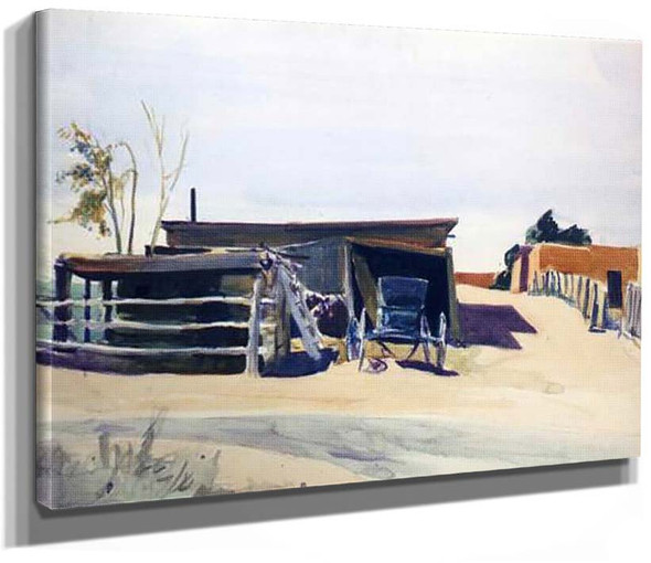 Adobes And Shed New Mexico By Edward Hopper