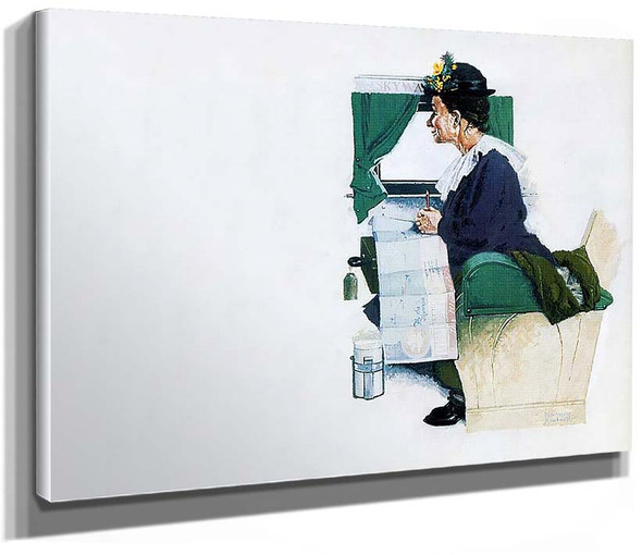 Airplane Trip By Norman Rockwell