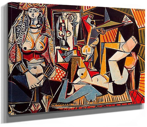 Algerian Women Delacroix 1955 By Pablo Picasso