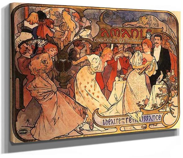 Amants 1895 By Alphonse Mucha