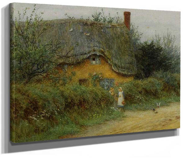 An Iltshire Cottage By Helen Allingham