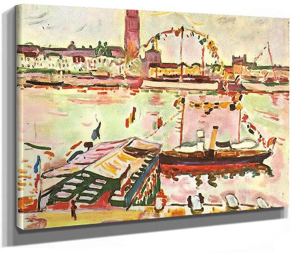 Antwerp Harbor 1905 By Georges Braque
