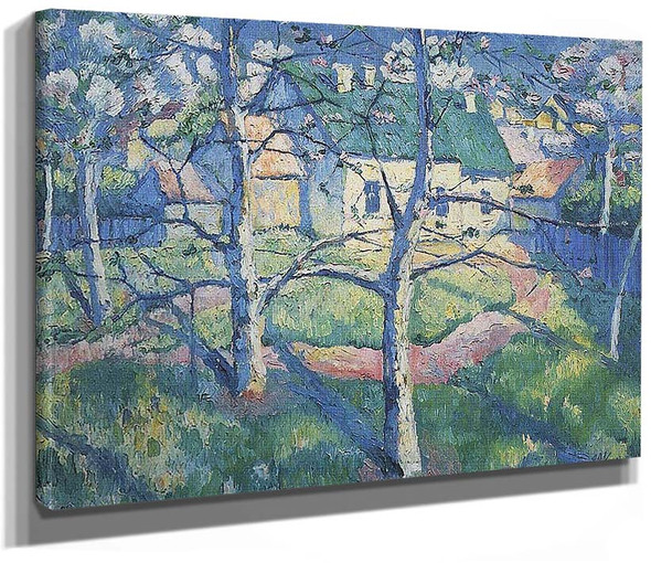 Apple Trees In Blossom By Kazimir Malevich