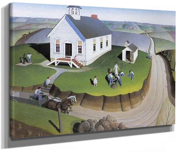 Arbor Day 1932 By Grant Wood