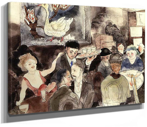 At The Golden Swan Sometimes Called Hell Hole By Charles Demuth