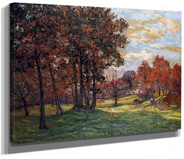 Autumn Landscape At Goulazon Finistere By Maxime Maufra
