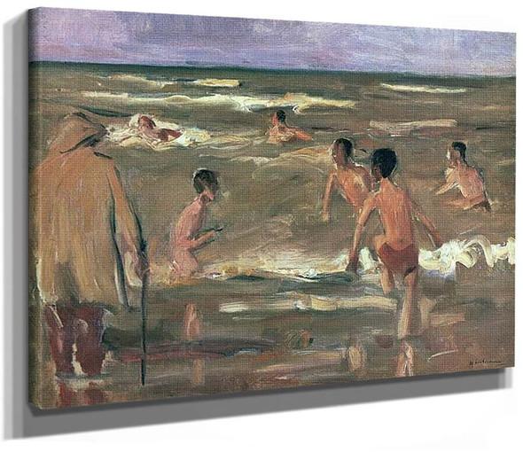 Bather On The Beach At Scheveningen By Max Liebermann