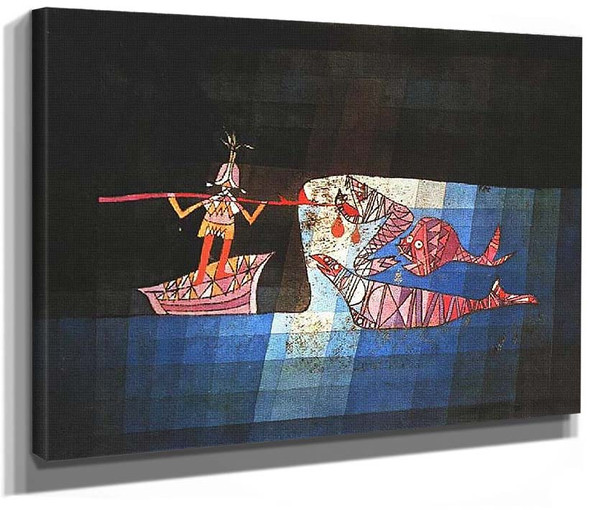 Battle Scene From The Comic Fantastic Opera The Seafarer 1923 By Paul Klee