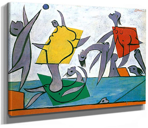 Beach Game And Rescue By Pablo Picasso