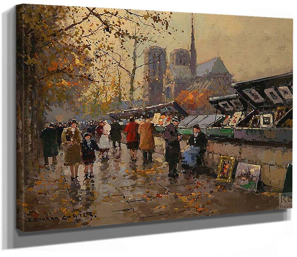 Bouquinistes 1 By Edouard Cortes