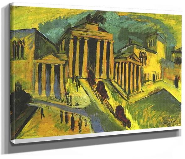 Brandenburg Gate In Berlin 1 By Ernst Ludwig Kirchner