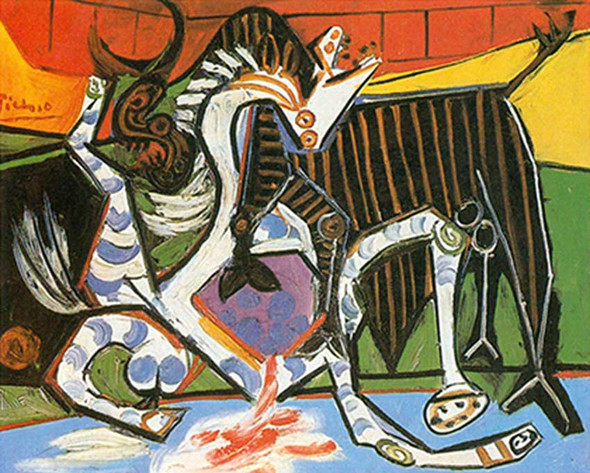 Bullfight By Corrida By By Pablo Picasso