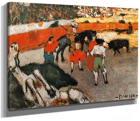 Bullfighting Scene By Pablo Picasso