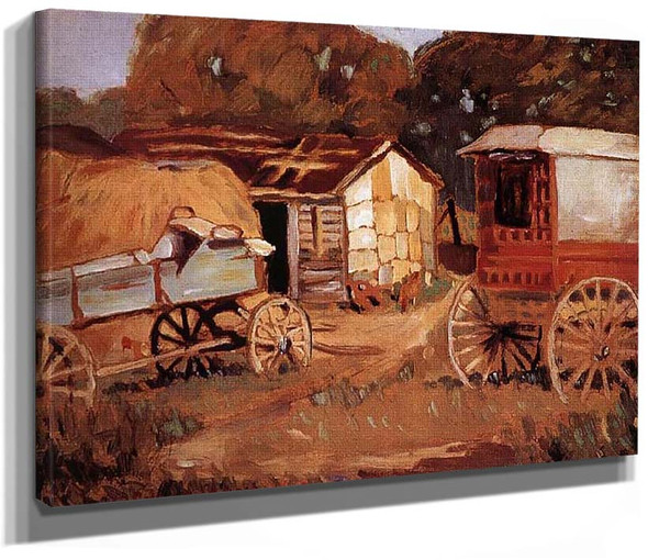 Carriage Business 1918 By Grant Wood