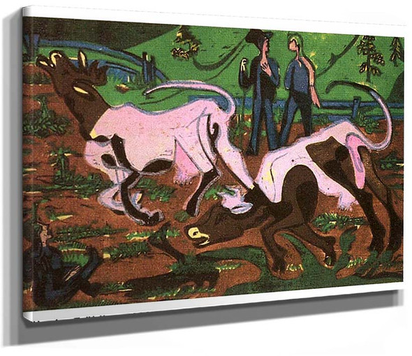Cattles In The Spring By Ernst Ludwig Kirchner