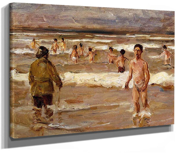 Children Bathing In The Sea 1899 By Max Liebermann