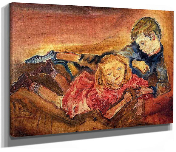 Children Playing 1909 By Oskar Kokoschka