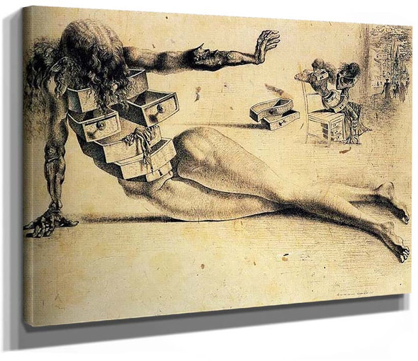 City Of Drawers By Salvador Dali