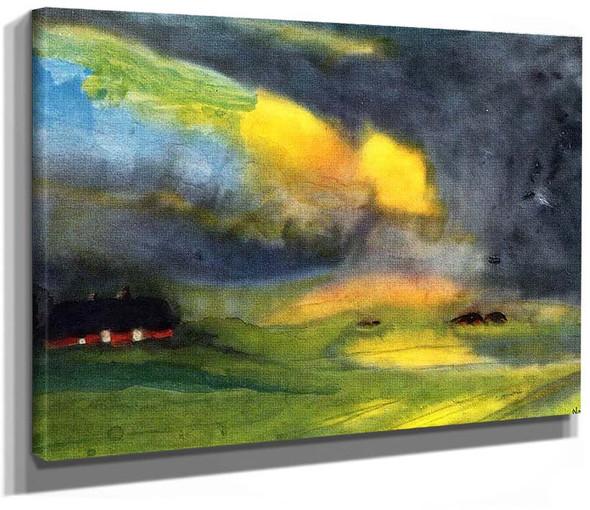 Colored Sky Above The Marais By Emil Nolde