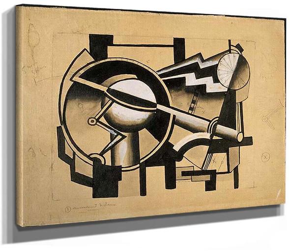 Composition Mechanical Movement Cart By Fernand Leger