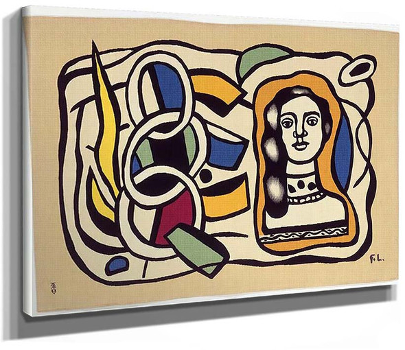 Composition Of The Medallion Final By Fernand Leger