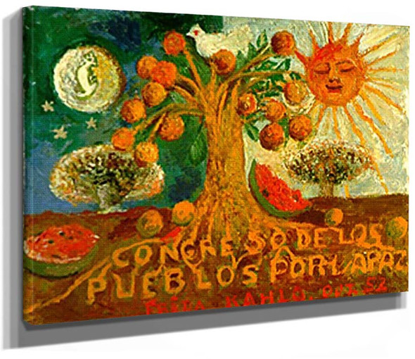 Congress Of Peoples For Peace 1952 By Frida Kahlo