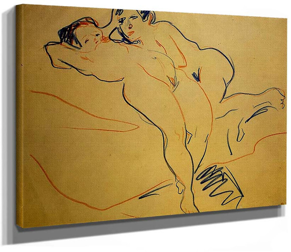 Couple 1908 By Ernst Ludwig Kirchner