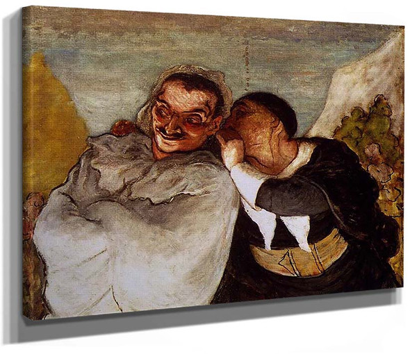 Crispin And Scapin By Daumier Honore
