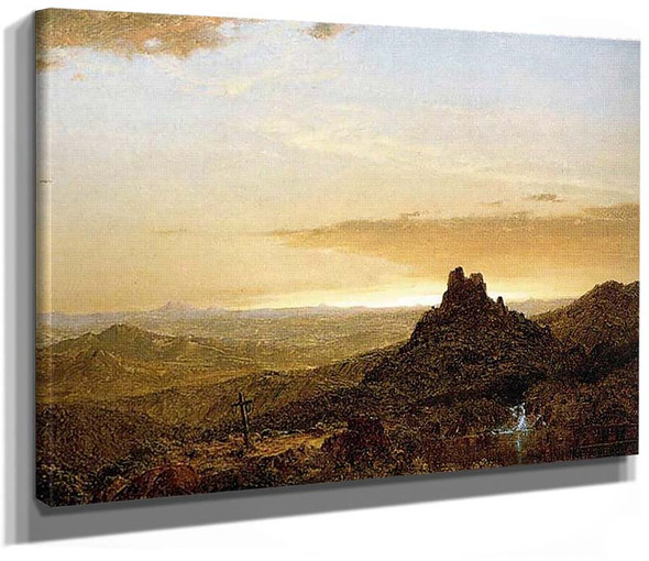 Cross In The Wilderness By Church Frederic Edwin