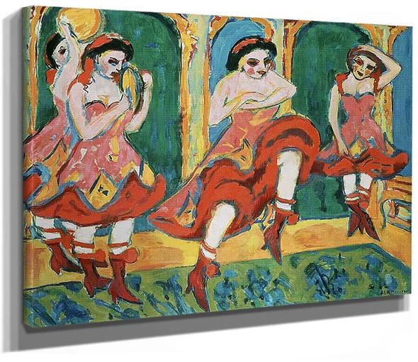 Czardas Dancers 1920 By Ernst Ludwig Kirchner
