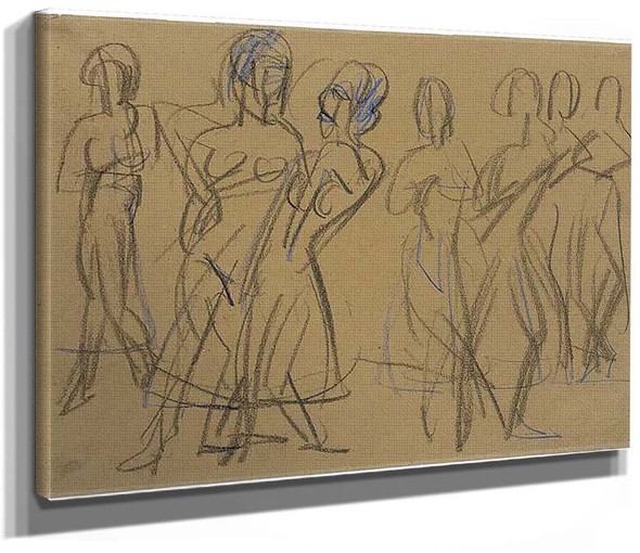Dance Group Of The Mary Wigman School In Dresden By Ernst Ludwig Kirchner