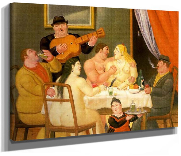 Dinner Party By Fernando Botero
