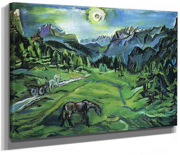 Dolomite Landscape Tre Croci By Oskar Kokoschka