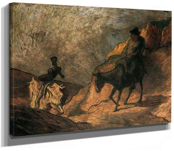 Don Quixote And Sancho Panza By Daumier Honore
