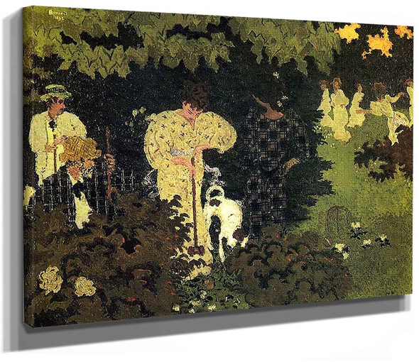Dusk Or A Round Of Croquet 1892 By Pierre Bonnard