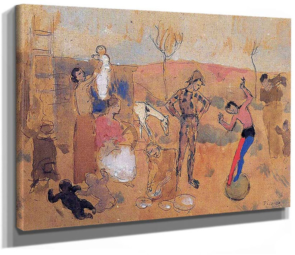 Family Of Jugglers 1905 By Pablo Picasso