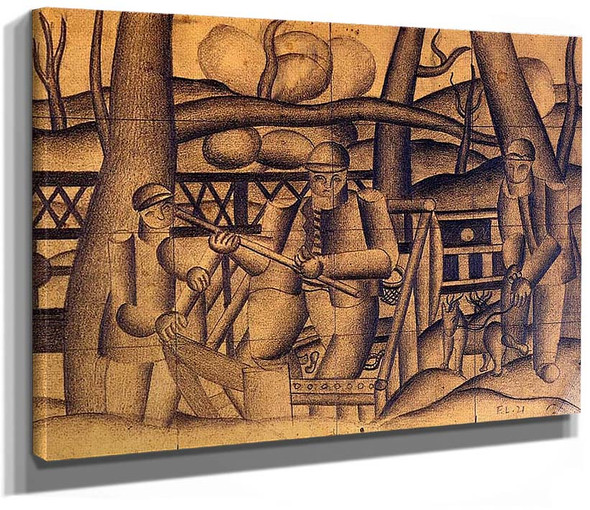 Fishermen 1921 By Fernand Leger