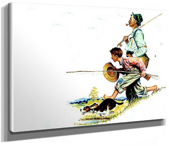 Fishing 1 By Norman Rockwell