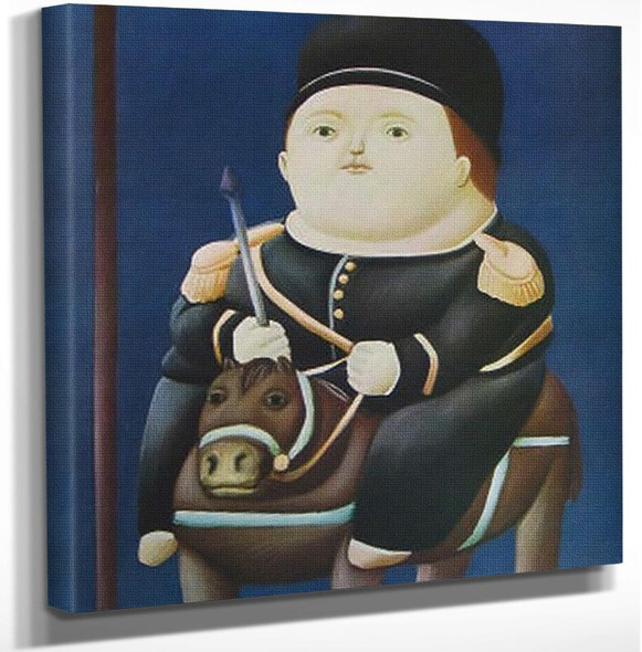 Saint George By Fernando Botero Art Reproduction from Wanford.