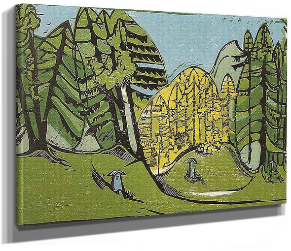 Forest Cemetery By Ernst Ludwig Kirchner