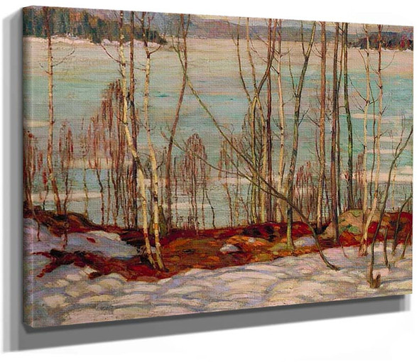 Frozen Lake Early Spring Algonquin Park 1914 By Jackson A Y