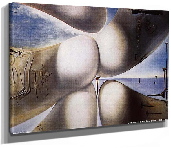Goddess Leaning On Her Elbow Continuum Of The Four Buttocks Or Five Rhinoceros Horns Making A 1960 By Salvador Dali