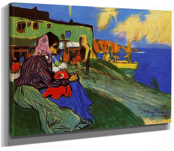Gypsy In Front Of Musca By Pablo Picasso