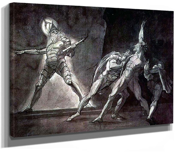 Hamlet And His Father By S Ghost By Henry Fuseli