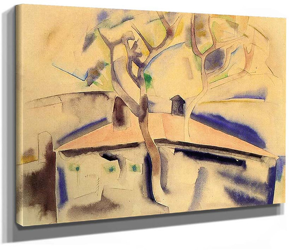 House And Tree Forms By 1 By Charles Demuth