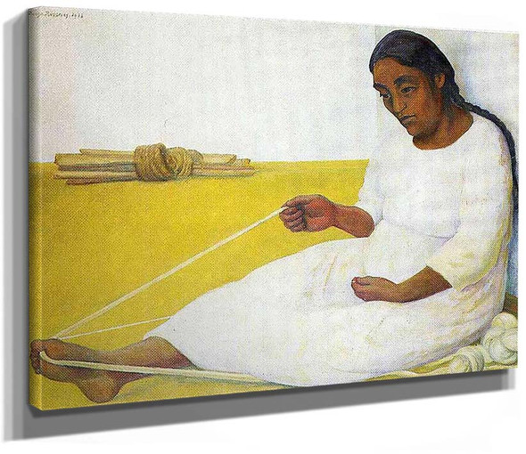 Indian Spinning By Diego Rivera