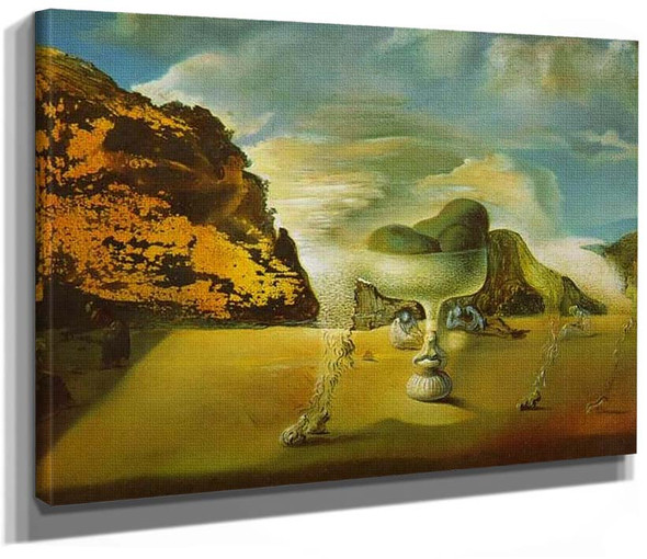 Invisible Afghan With The Apparition On The Beach Of The Face Of Garcia Lorca In The Form Of A By Salvador Dali