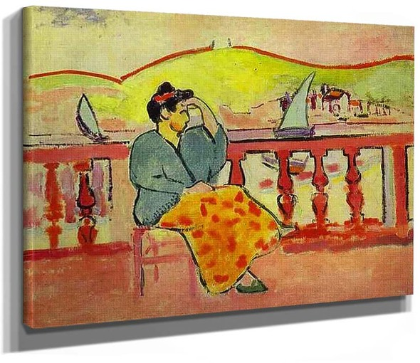 Lady On A Terrace 1907 By Henri Matisse